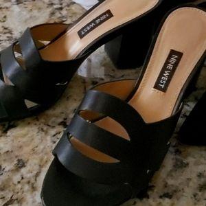 Nine west heeled slides